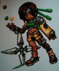 Yuffie Kisaragi - Final Fantasy 7 hama beads by Phiphi255