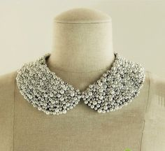 Handmade Fashion Metal Bead and Pearl Collar by beetrims on Etsy, $25.00