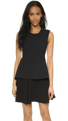 Derek Lam 10 Crosby Sleeveless Dress with Flared Skirt