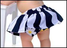 Skirted diaper cover