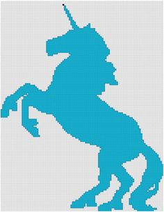 Unicorn Cross Stitch Pattern  Silhouette by PlatoSquirrelPattern, $3.00