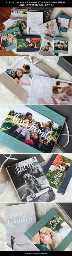 Make your already beautiful keepsake from the Design Aglow Album Shop next-level gorgeous with the Hand Lettered Jackets & Book Bands. #designaglow