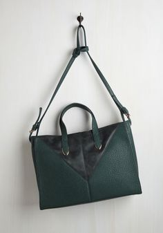 Continental Excellence Bag. When life throws you a long layover, stay composed with this teal tote bag at your side! #green #modcloth