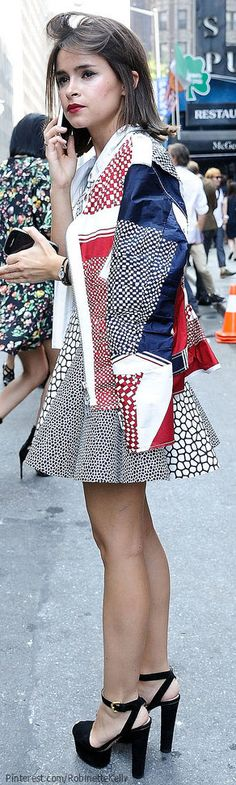 Street Style | Miroslava Duma, NYFW Her jacket reminds me of the Croatian flag......