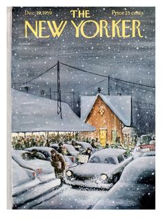 The New Yorker Cover ~ December 19, 1959 Giclee print by Charles Saxon at Art.com
