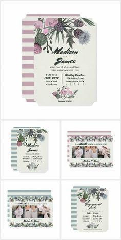 Wedding | Thistle Wild Flowers #wedding #invitations #wildflowers #fieldflowers #spring #bridalshower #floral #flowers