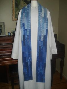 Gradual Change Clergy Stole by SageTextiles on Etsy, $150.00