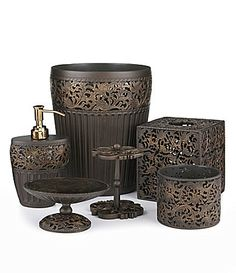 Horns shower curtains and curtains on pinterest for Dillards bathroom accessories sets