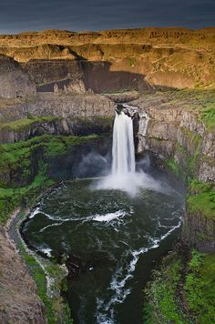 Palouse Falls, Washington.   Could sit and watch it forever