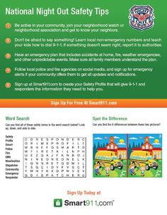A National Night Out #Safety Activity Guide for kids! #NNO