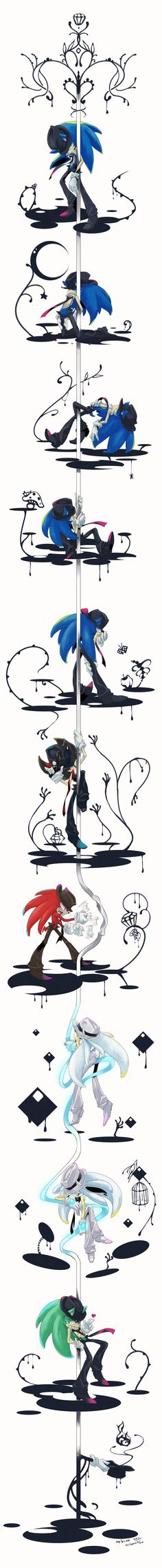 Sonic pole dancing by hitonatsu