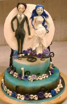 Tim Burton cake, via Flickr.