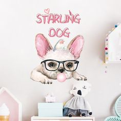 Starling French Bulldog Vinyl Wall Decal for the Kids Baby Living Room Home Decor 18.92 Follow us for the Latest and Trending items for Dog Lovers ❤ FREE Shipping worldwide ✈ #doglovers #petlovers #doggroomers #dogbreeds #doglovergifts #petowners #pawprint #pawsome #dogmom #dog #dogs #doglover #doglife #doggy #doglove #puppies #doggie #doggies #dogprints