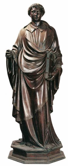 Lorenzo Ghiberti, St Stephen 1428 Partially gilded bronze, height 230 cm Orsanmichele, Florence