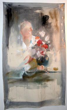 "Saatchi Online Artist Hannah Dean; Painting, ""Portrait Supplement Fragonard Flowers Atmosphere"" #art"