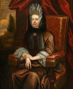 c.1690,  Anne Cullum, Wife of John Cullum, Draper.  British (English) School.  St Edmundsbury Museums.