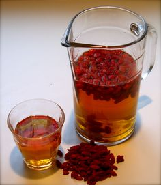 Goji Berry Tea - serve warm or cold