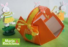 ** Maria Reciclona **: Reciclando para a Páscoa -  Faça cestinhas de tetr...