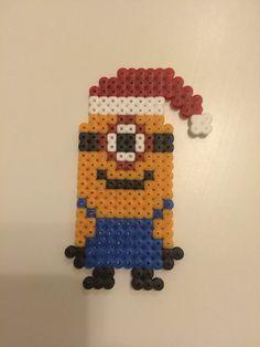 Minions Christmas perler beads