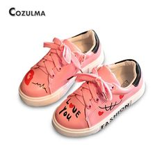 Awesome COZULMA Girls Boys Casual Shoes Sneakers 2017 Children Sport Shoes Baby Boys Shoes Kids Letters Lace-Up Running Shoes Sneakers - $ - Buy it Now!