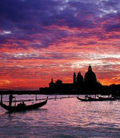 Late evening in Venice, Italy