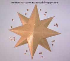 como hacer una estrella de papel grande paso a paso ~ cositasconmesh Christmas Home, Christmas Holidays, Christmas Crafts, Christmas Decorations, Xmas, Christmas Ornaments, Cardboard Crafts, Paper Crafts, Diy And Crafts