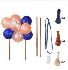 Deze ballon taarttopper maakt van iedere taart een feestje! In de kleuren blauw, roze en wit. Maak van deze ballonnen een mooie taartversiering. Let op: deze taarttopper wordt geleverd als DIY-pakket en is eenvoudig in elkaar te zetten! Blijft de confetti in de ballon liggen? Wrijf hem dan even langs een spijkerbroek of handdoek. De ballon wordt dan statisch waardoor de confetti aan de zijkant plakt. Birthday Party Decorations, Birthday Parties, Balloon Cake, Cake Toppers, Party Supplies, Balloons, Greeting Cards, Confetti, Creative