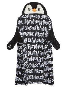 Cozy penguin hoody blanket! Omg so cutee! I love this!!!