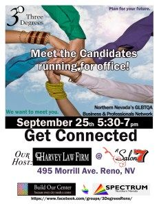 Three Degrees is a Reno organization for professional LGBT people to meet and get to know one another. They meet regularly in various places around Reno. Getting To Know, Nevada, Lgbt, Organization, Places, People, Getting Organized, Organisation, Tejidos