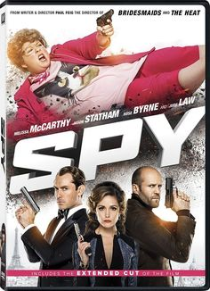 Spy (2015) DVD - Melissa McCarthy - A desk-bound CIA analyst volunteers to go undercover to infiltrate the world of a deadly arms dealer, and prevent diabolical global disaster.