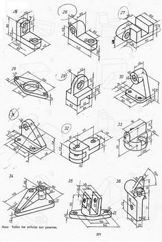 Lifgate Panel Attaching Parts Isometric Sketch, Autocad Isometric Drawing, Isometric Drawing Exercises, Isometric Art, Mechanical Engineering Design, Mechanical Design, Orthographic Drawing, Interesting Drawings, Geometric Drawing