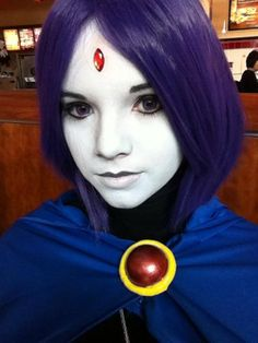 Raven from Teen Titans- Wow this cosplay of raven is beyond perfect. XD I would like to see a lot of teen titans episodes with raven in this appearance. Dc Cosplay, Raven Cosplay, Best Cosplay, Cosplay Girls, Cosplay Ideas, Halloween Cosplay, Halloween Makeup, Halloween Costumes, Cool Costumes