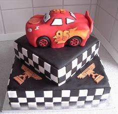 cars theme birthday cake.