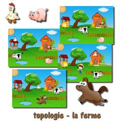[ Jeu à imprimer ] Topologie – la ferme – Cycle 1 – Cycle 2 | livres pour la classe Cycle 1 Cycle 2 Cycle 3