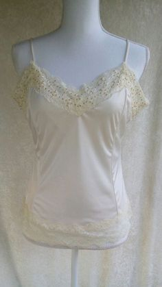 The limited camisole top ivory nwot embellished side zip large #TheLimited…