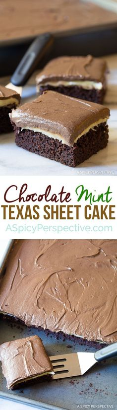 Try this Yummazing Chocolate Mint Texas Sheet Cake