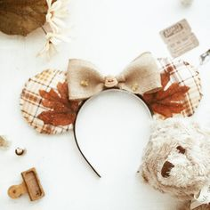 """""""It was a rather blustery day in the Hundred Acre Wood"""" I have a video going up tomorrow on how to make your very own Disney ears! Mine are inspired by the Hundred Acre Wood in autumn"""