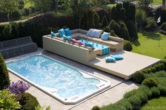 Equip your backyard with the latest in swim spa technology. We have a wide selection of high-quality swim spas for sale in Edmonton, from leading brands like Hydropool. Contact Sundance Spas of Edmonton for more information. Jacuzzi Outdoor, Outdoor Spa, Small Swimming Pools, Small Pools, Backyard Pool Designs, Small Backyard Pools, Pool Spa, Inflatable Hot Tub Reviews, Swimming Pool Decorations