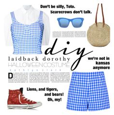 """328 : DIY Laidback Dorothy Halloween Costume - Red Glitter Converse All Star."" by kathlynclark ❤ liked on Polyvore featuring Diane Von Furstenberg, Delpozo, FAIR+true, Indigo&Lavender, Converse and STELLA McCARTNEY"