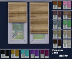 pqSim4: Persianas Carla. Sims 4 Custom Content.