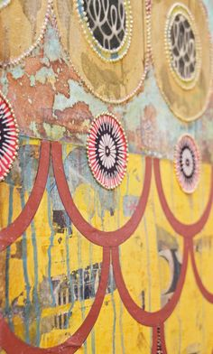 Jill Ricci's art recreates old walls layered with papers, graffiti and text - our modern hieroglyphics.