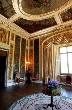 The Music Room ceiling in Highclere Castle: Behind the scenes of Downton Abbey.