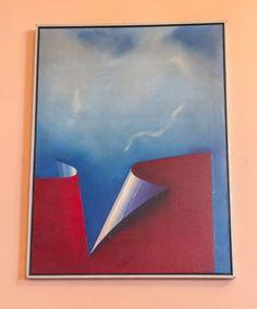 """TOYOTA (Yutaka Toyota - 1931, Japão): """"Abstrato cubismo"""", intitulado espaço cósmico, assinad"""