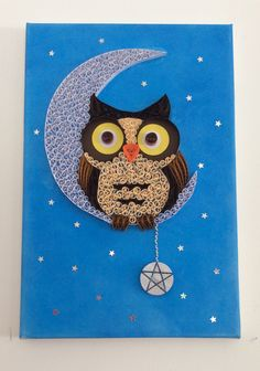 Quilled moon owl.