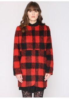 Abrigo Azucena rojo