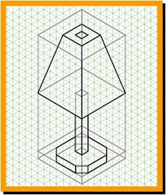 Constructing an isometric projection using grid paper Isometric Sketch, Isometric Shapes, Isometric Grid, Isometric Design, Isometric Drawing Exercises, Geometric Shapes Drawing, Orthographic Drawing, Graph Paper Drawings, Pencil Sketch Drawing