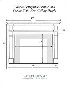 Best Fireplace Mantel Proportions – How Not To Muck It Up! Best Fireplace Mantel Proportions – How N Home Fireplace, Fireplace Remodel, Fireplace Surrounds, Fireplace Design, Fireplace Ideas, Fireplace Moulding, Fireplace Makeovers, Craftsman Fireplace, Fireplace Update