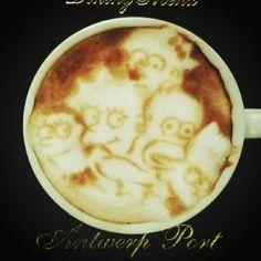 Cappuccino famiglia Simpson