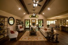 Exposed beams are what it's all about. Get more home decor ideas from the Model Homes at Texas Grand Ranch. George Bush Intercontinental Airport, Exposed Beams, Model Homes, Ranch, Texas, Dining Room, Decor Ideas, Instagram, Home Decor