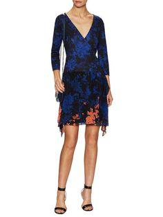 Riviera Print Silk Wrap Dress by Diane von Furstenberg at Gilt